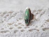 INEL argint cu SCOICA ABALONE impecabil SPLENDID de efect SUPERB minunat