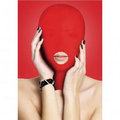 Masca rosie tip cagula cu deschidere pentru gura