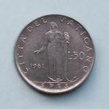 VATICAN  -  50 Lire 1961  -  Ioannes XXIII, Europa
