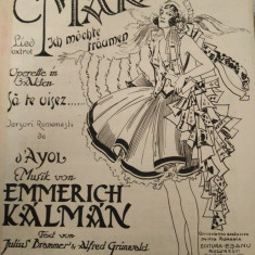 Sa te visez, versuri romanesti de d'ayol, musik von Emmerich Kalman