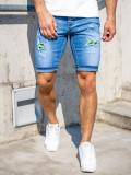 Cumpara ieftin Pantaloni scurți de blugi bleumarin Bolf KG3810