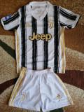 Echipament Juventus copii model 2021, XS, YL, YM, YS, YXL, YXXL, Tricou + Pantalon