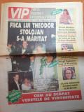 Vip 7-13 iulie 1998-art mihaela radulescu,g.hagi,tora vasilescu,c.crawford
