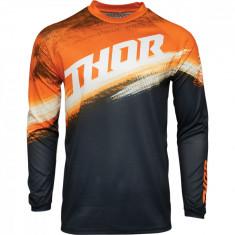 Tricou motocross Thor Sector Vapor culoare Negru/Portocaliu marime M Cod Produs: MX_NEW 29106134PE