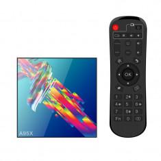 Cumpara ieftin Smart TV Box Mini PC Techstar® A95X R3 , Android 9, 4GB + 32GB ROM, 4K HDR ,WiFi 5GHz, SPDIF, AV, RK3318