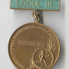 Insigna medalie sport 1970 - Concurs Municipal Bucuresti - Locul 3