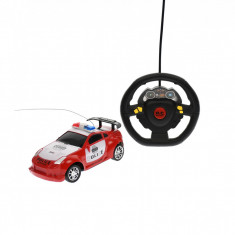 Masina de politie, de jucarie, cu sunete, luminite si radiocomanda, Rosu - 38917R