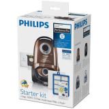 Kit aspirator Performer Active FC8060/01, 4 saci de praf S-bag ULP, 1 filtru HEPA13, 1 filtru de intrare triplustrat , 4 pachete de parfum, Philips