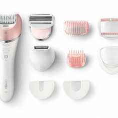 Epilator Satinelle Advanced Wet & Dry Philips BRE640/00 2 Viteze 32 Puncte de prindere Acumulator Alb