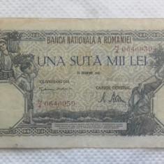 BANCNOTA 100.000 LEI 20 DEC. 1946