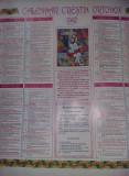 Calendar religios vechi Colectie,Calendar crestin ortodox de perete 1997,T.GRAT