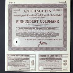 Titlu De Stat Obligatiune Germania 1935-100-GoldMark