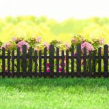 Bordura pt. pat de flori / gard - extensibil, 36 x 29,5 cm - Negru Best CarHome