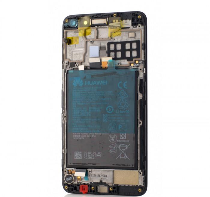 Display Huawei Y5 (2017), Modul LCD + Acumulator, Black, OEM