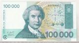 bnk bn Croatia 100000 dinari 1993 necirculata