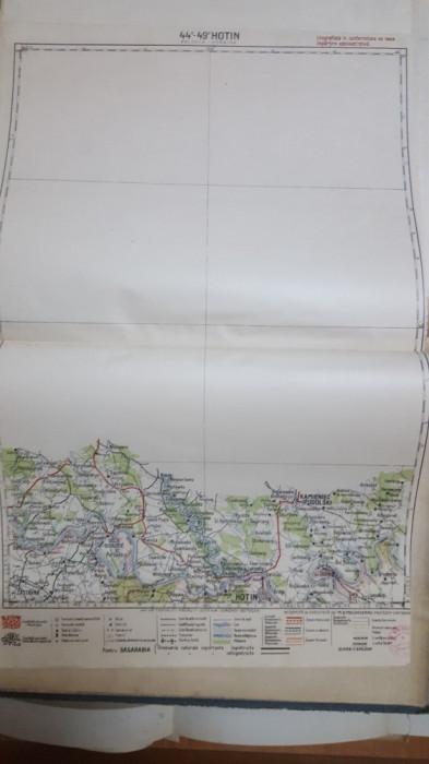 Harta Hotin, Kamieniec-Podolski, Zastavna, Râșcov, 1929