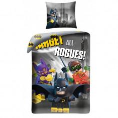 Lenjerie de pat copii Cotton Lego Batman LEG512BL-200 x 140 cm