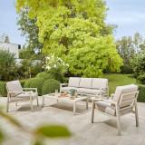 Cumpara ieftin Set mobilier gradina modular Santorini, canapea cu masa cafea si 2 fotolii