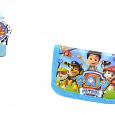 Set ceas pentru copii cu Paw Patrol si portofel cadou - MK03P