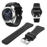 Curea compatibila cu Samsung Gear S3, din silicon, negru
