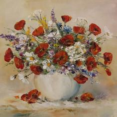 """Pictură """"Flori multicolore"""""""