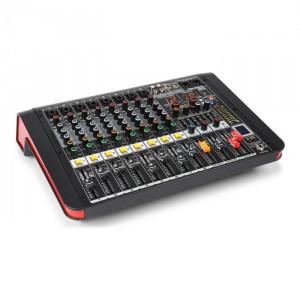 Power Dynamics PDM-M804A, mixer muzical, 8 intrări de microfon, procesor multi-fx 24 biți, player usb