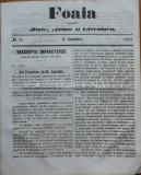 Foaia pentru minte , inima si literatura , nr. 25 ,1863 , Brasov , Al. Ioan Cuza