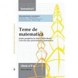 Teme de matematica. Clasa a V-a (semestrul I) - Petrus Alexandrescu