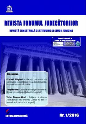 Revista Forumul Judecatorilor - nr. 1 2016 foto