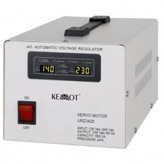 Stabilizator tensiune Kemot, protectie scurcircuit, servomotor, 500 VA