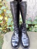 Cizme ofiter inalte piele militare vechi
