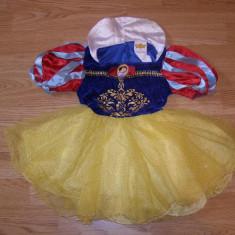 costum carnaval serbare alba ca zapada pentru copii de 3-4 ani
