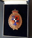 Insigna per. regalista UFSR - cutia originală - stare de exceptie - Sport