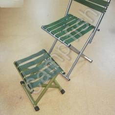 Set doua scaun pliabil nou ideal pentru camping-gradina si pescuit