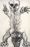 Fiara// Marcel Chirnoaga, tempera pe panza, dimensiuni impresionante