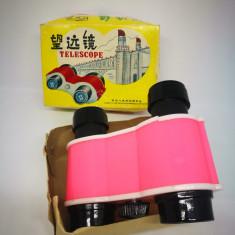 Binoclu - Jucarie veche chinezesca din plastic.