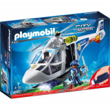 Set Playmobil City Action Elicopter de Politie cu Led