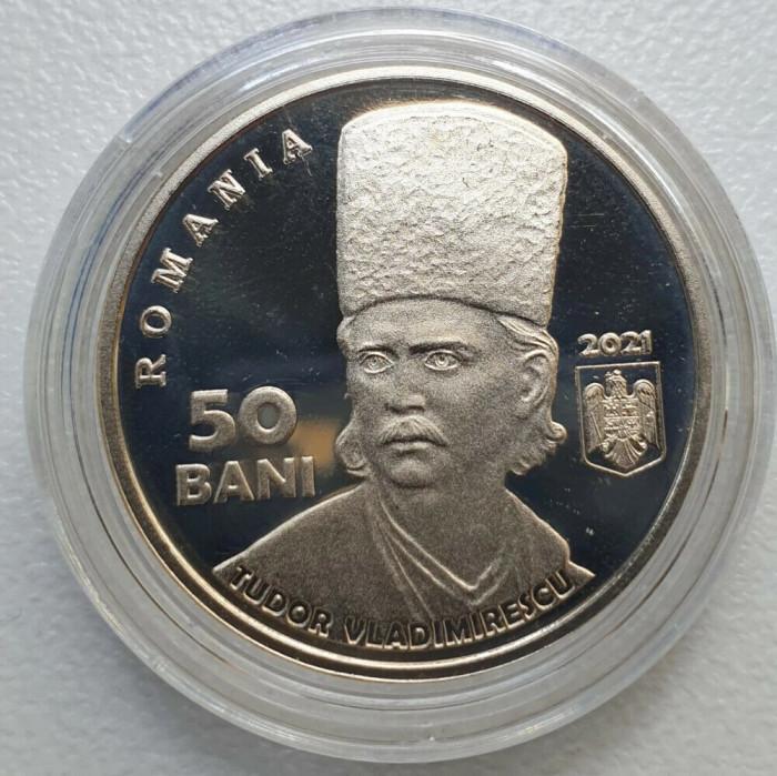 50 bani 2021 PROOF Revolutia lui TUDOR VLADIMIRESCU 1821 BNR 200 ani