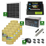 Pachet Gard electric 6,6j putere cu Panou Solar si 10.000m de fir 160Kg