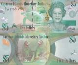 Cayman Islands Insulele Cayman 5 Dollars 2014 (17) UNC