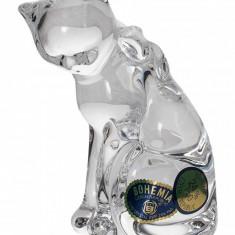 Figurina pisica cristal Bohemia 9 cm Cod Produs 2263