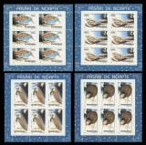 1998 Romania - Pasari de noapte 4 blocuri de 6 timbre LP 1458 a, MNH, Fauna, Nestampilat
