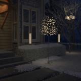 vidaXL Pom Crăciun, 220 LED-uri alb cald, flori de cireș, 220 cm