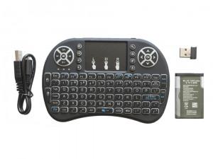 Tastatura bluetooth cu touchpad iluminata 3 culori Smart TV Android Windows