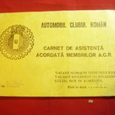 Carnet de Asistenta acordata Membrilor ACR 1978 , 27 pag