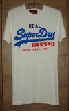 Tricou SUPERDRY, Marimea S, Alb, Autentic/Original