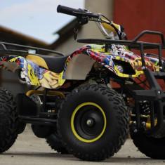 ATV electric pentru copii NITRO Torino Quad 1000W 48V GRAFITI #Yellow, Arctic Cat
