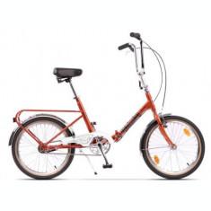 Bicicleta Pegas Practic Retro, Cadru 16inch, Roti 20inch (Portocaliu)