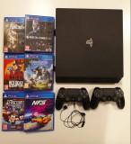 PS4 PRO CUH-7016B + 2 controllere + 6 jocuri