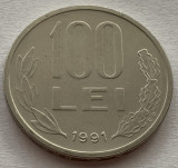 """100 Lei 1991, Romania a UNC, varianta """"99"""" cu codita rotunjita, RARA! (1)"""